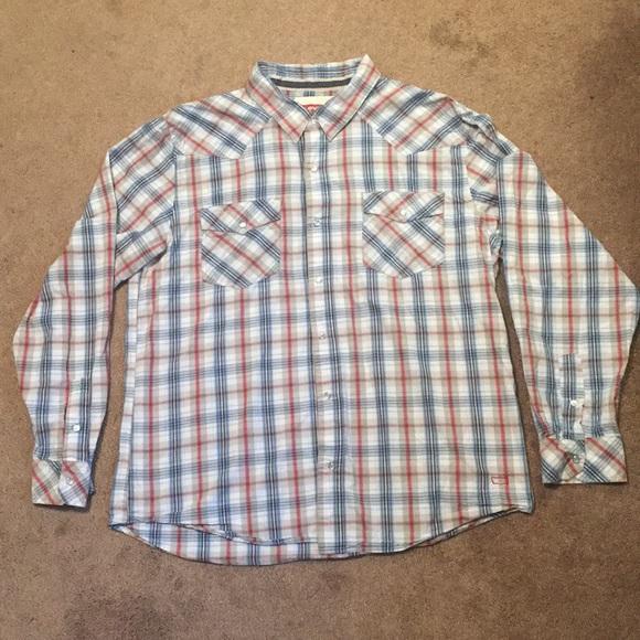 405d69dc Levi's Shirts | Levi Strauss Xl Long Sleeve Snap Down Mens Shirt ...